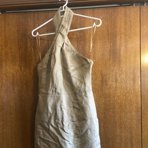 Banana Republic Linen Midi Halter dress